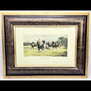 """Polo """"A Question Of Pace"""" Print Frame"""